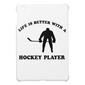 Ice Hockey Player Designs iPad Mini Covers