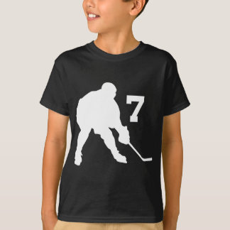 Ice Hockey Player Jersey Number 7 T-Shirt