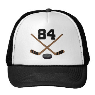 Ice Hockey Player Jersey Number 84 Gift Trucker Hat
