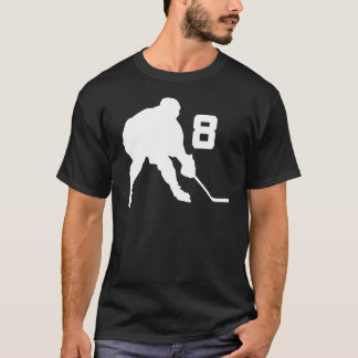 Ice Hockey Player Jersey Number 8 T-Shirt