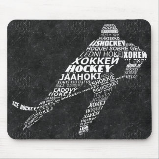 Ice Hockey Player Languages Mousemat Mouse Pad