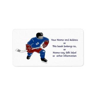 Ice Hockey Players Walk On Water Label