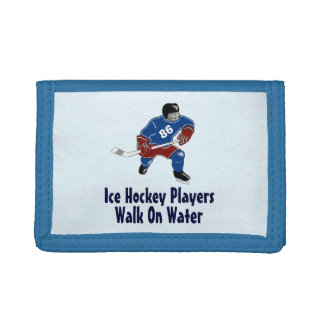 Ice Hockey Players Walk On Water Wallet - Blue