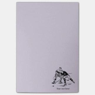 Ice hockey post-it notes