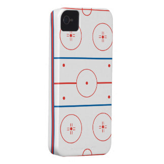 ice hockey rink graphic Case-Mate iPhone 4 case