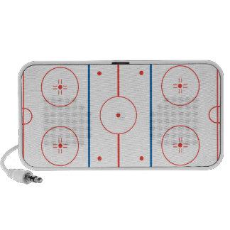 ice hockey rink graphic iPod speakers