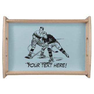 Ice hockey serving tray