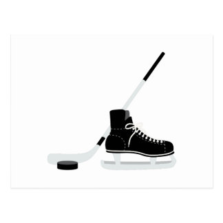 Ice Hockey Skate Postcard