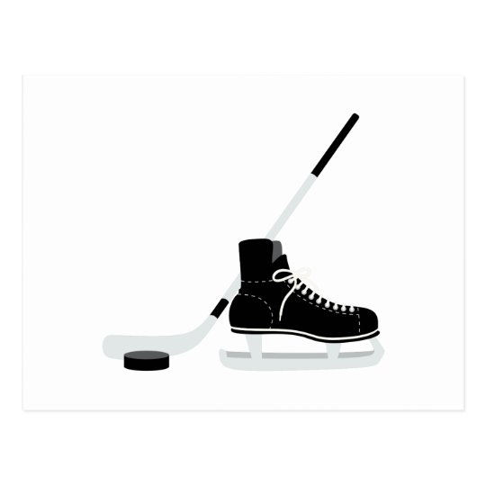 Ice Hockey Skate Postcard