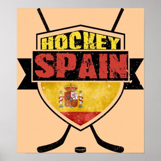 Ice Hockey Spain Shield Poster