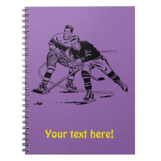 Ice hockey spiral note book