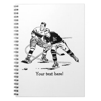 Ice hockey spiral notebook