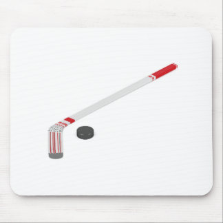 Ice hockey stick and puck mouse pad