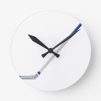 Ice hockey stick round clock