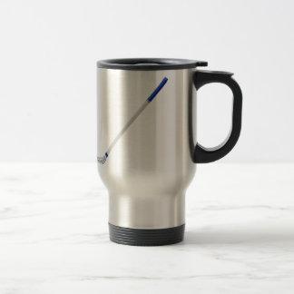 Ice hockey stick travel mug