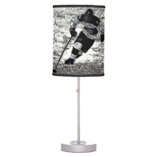 Ice Hockey Table Lamp Room Decor