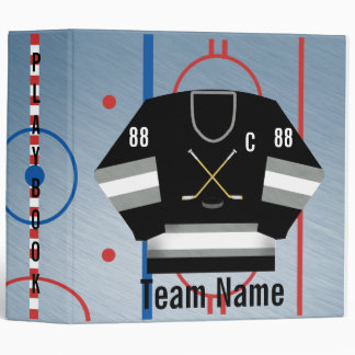 Ice Hockey Team Jersey Playbook Binder