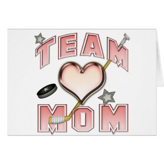 Ice Hockey Team Mom Greeting Cards