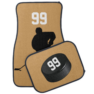 Ice Hockey Themed Car Mats-solid background Car Mat