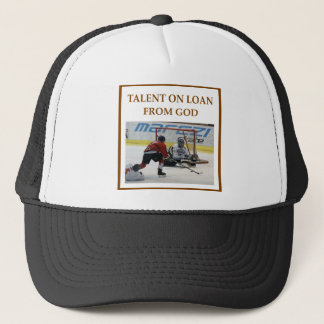 ice hockey trucker hat