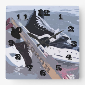 Ice Hockey Wall Clock
