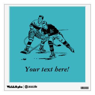 Ice hockey wall decal