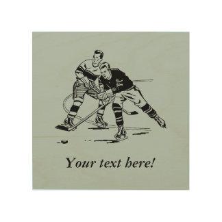 Ice hockey wood canvases