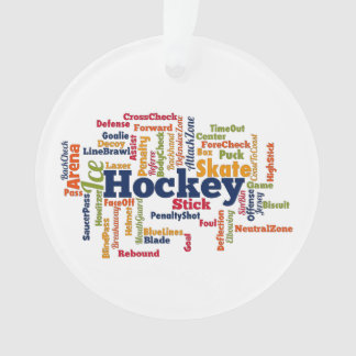Ice Hockey Word Cloud Ornament