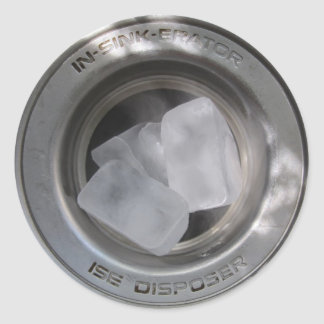 Ice in the garbage classic round sticker