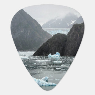 Ice in Tracy Arm Fjord Guitar Pick