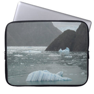 Ice in Tracy Arm Fjord Macbook Sleeve