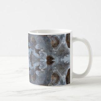 Ice kaleidoscope pattern coffee mug