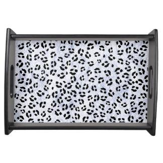 Ice Leopard Print Food Trays