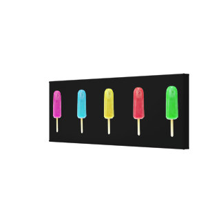 Ice Lollies Wrapped Canvas Stretched Canvas Prints