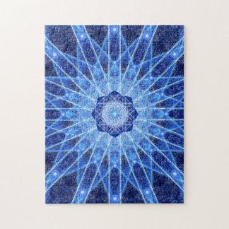 Ice Lotus Mandala Jigsaw Puzzle
