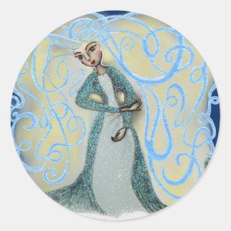 Ice Maiden Classic Round Sticker