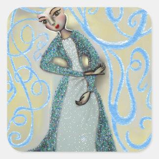 Ice Maiden Square Sticker