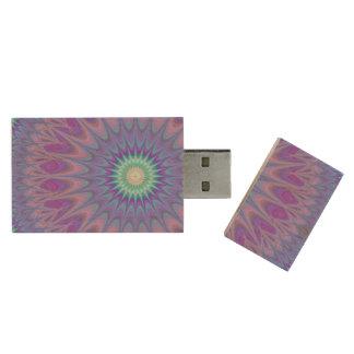 Ice mandala wood USB 3.0 flash drive