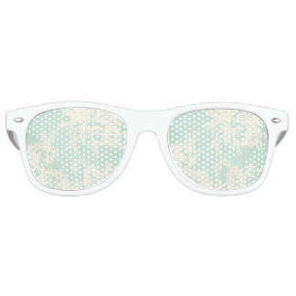 Ice Mint Green Vintage Lace Shabby Chic Sunglasses