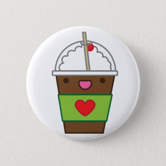 Ice mocha coffee 2 inch round button