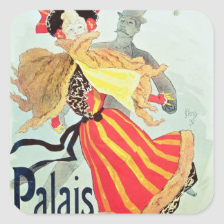 Ice Palace', Champs Elysees, Paris, 1893 Square Sticker