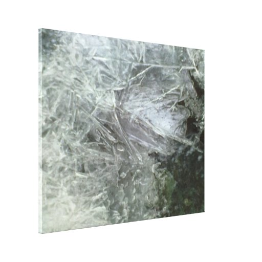 Ice pattern gallery wrap canvas