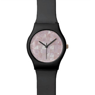 Ice Pink Rose Mother Of Pearl Natural White Dial Watch