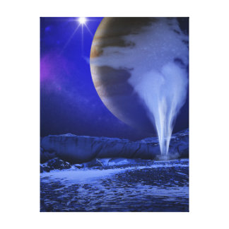 Ice Plume Jupiter Moon Europa Concept Art Canvas Print