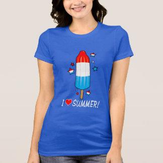Ice Pop I Love Summer with Stars Tee Shirt