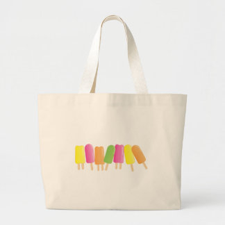 Ice-Pop Line-Up Large Tote Bag