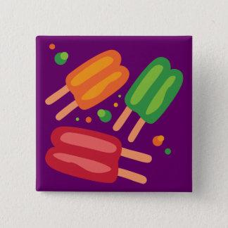 Ice Pops 2 Inch Square Button
