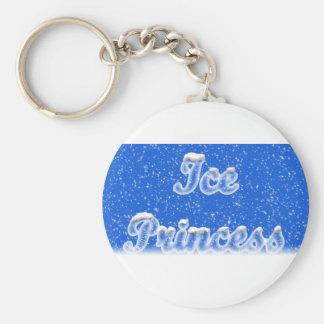 Ice Princess Basic Round Button Keychain