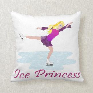 Ice Princess Figure Skater Throw Pillow