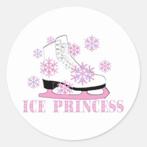 Ice Princess Skate Round Stickers